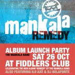 Remedy album launch poster, October 2013, by Laetitia Rocke