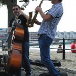 Busking, Bristol Harbour Side, August 2014, by Aurore
