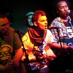 Ben, Nick and Simwinji, Remedy album launch, Fiddlers, Bristol, October 2013, by Duncan Smith,