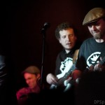 Chris, Guillaume and Justin, Remedy album launch, Fiddlers, Bristol, October 2013, by Duncan Smith