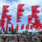 Flags, The Jazz World Stage, Glastonbury Festival, 2008, by Aurore