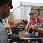 Acoustic Mankala session, Glastonbury Festival, 2008, by Aurore