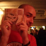 "Matteo selling the ""Speak Your Mind"" CD at the album launch, Golden Lion, Bristol, 2007"